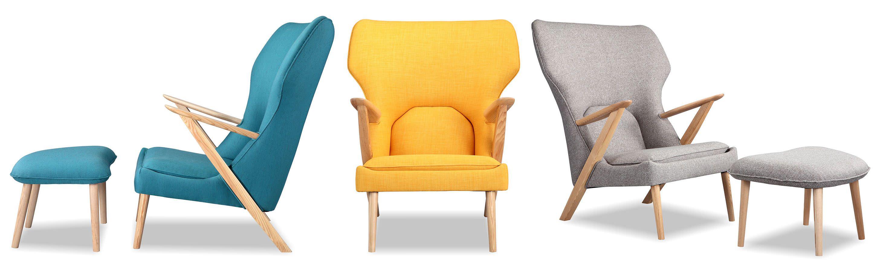 Cub Mid Century Modern Chair & Ottoman