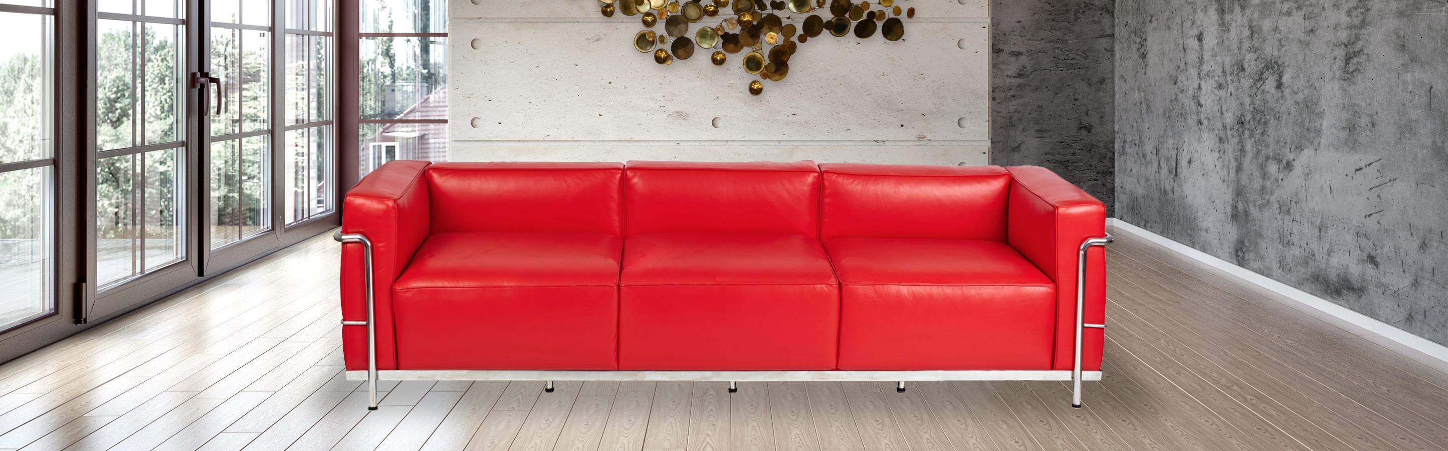 LC3 Mid Century Modern Sofa