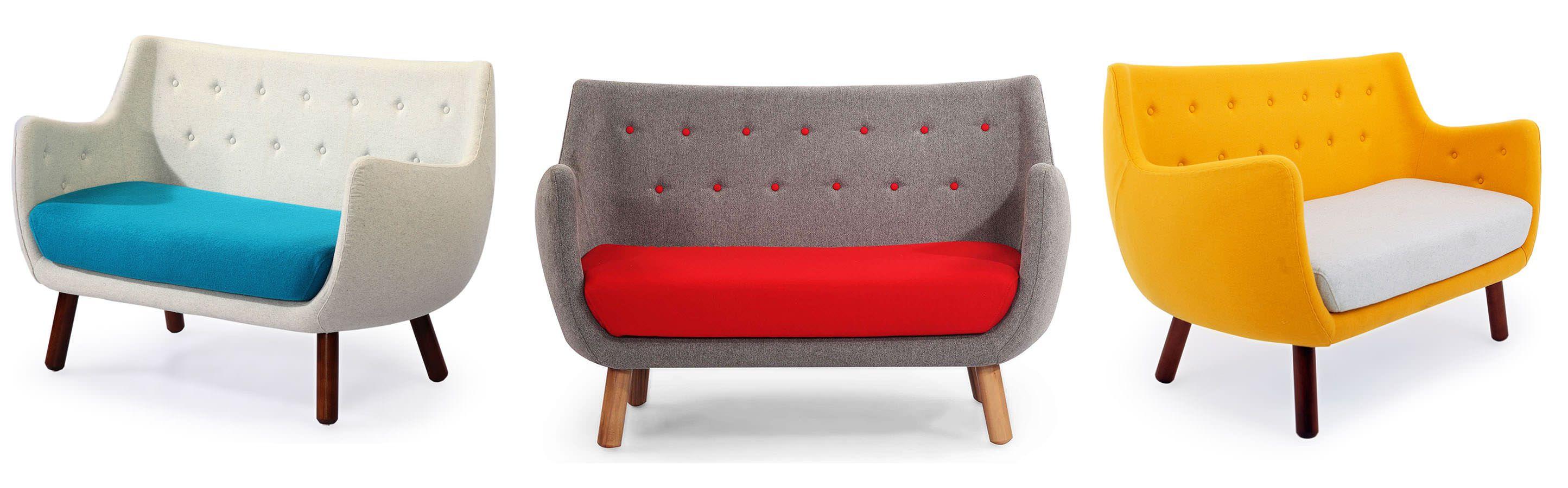 Poet Parlor Mid Century Modern Sofa