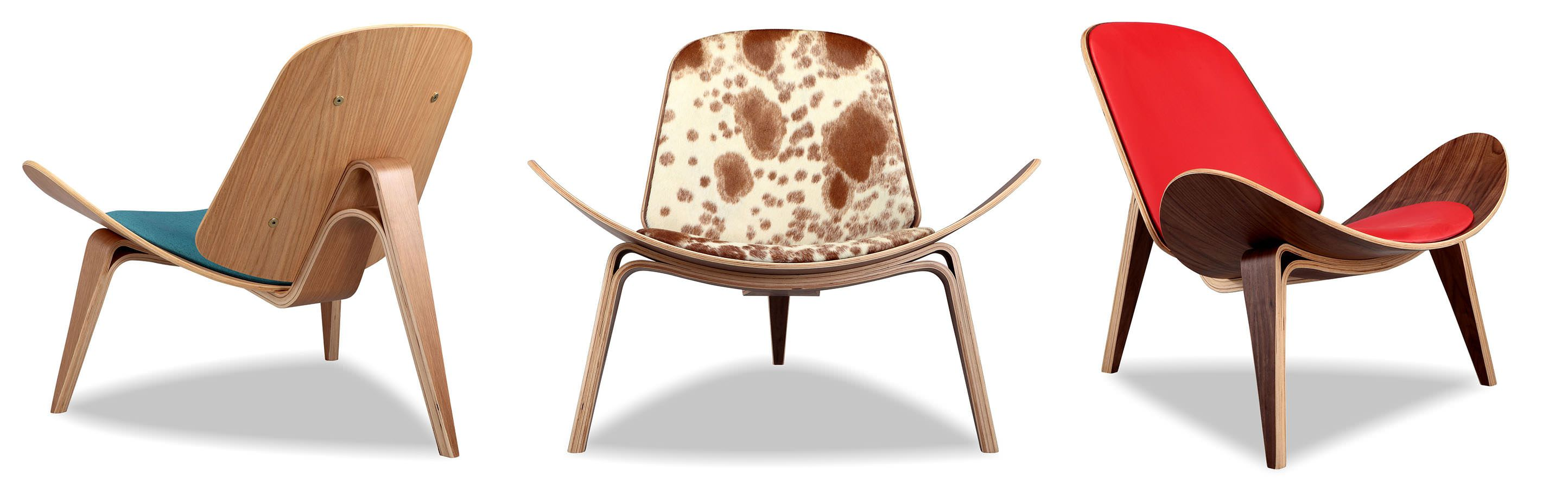 Tripod Shell Plywood Mid Century Modern Chair