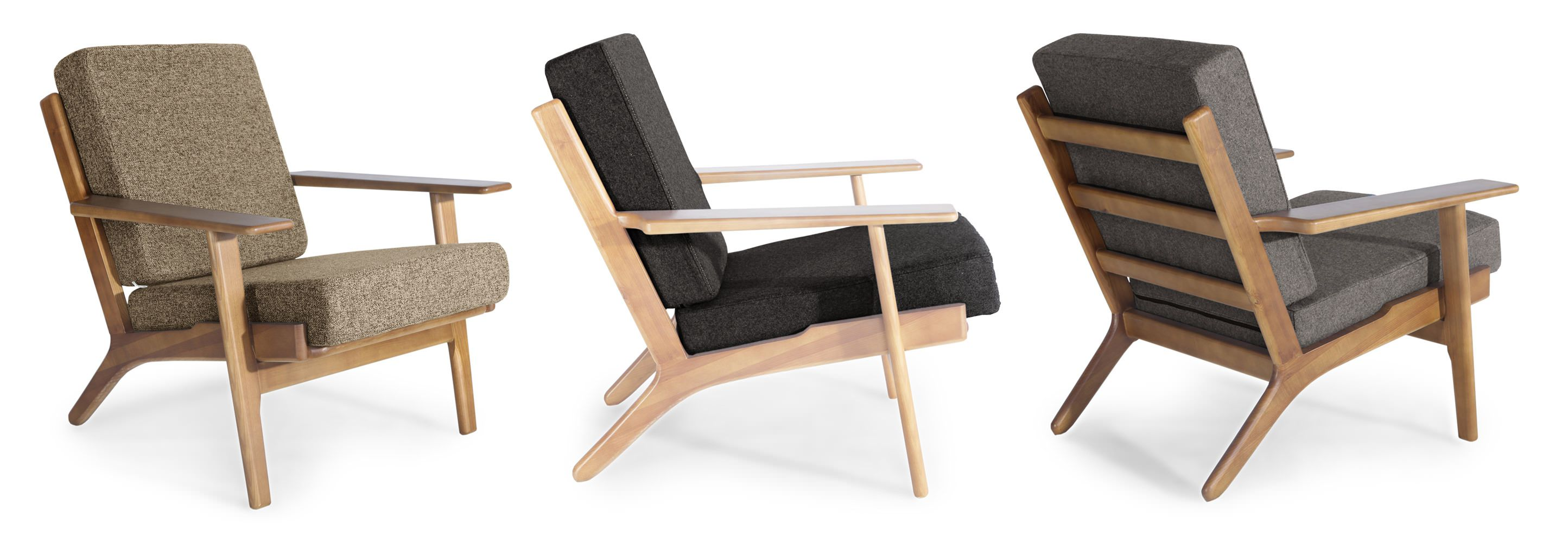 Wegner Plank Mid Century Modern Loveseat