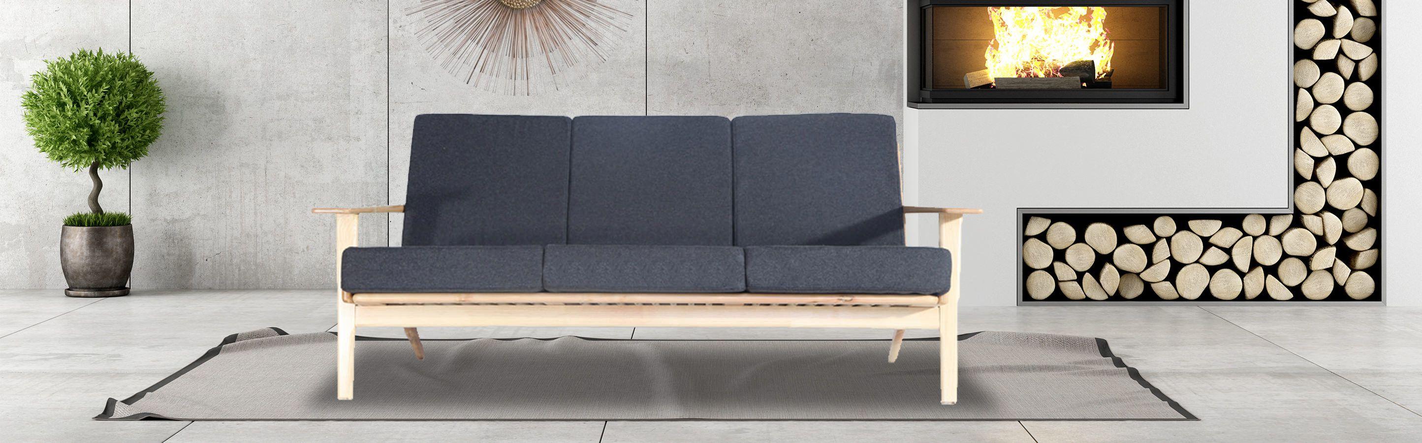 Wegner Plank Mid Century Modern Sofa