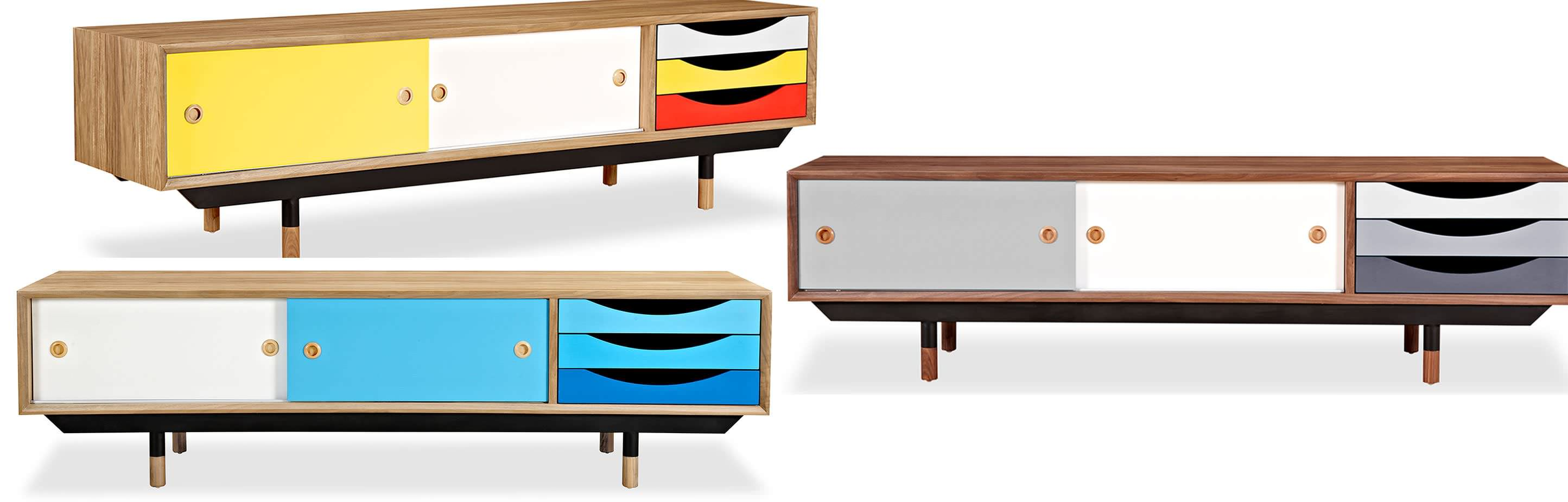 Color Pop Mid Century Modern Cabinet