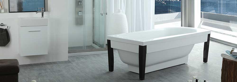 HelixBath Athenaeus Freestanding Pedestal Modern Tub