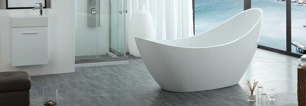 HelixBath Odysseus Freestanding Pedestal Modern Tub