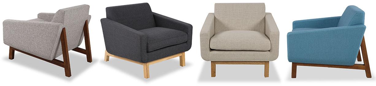 Platform Mid Century Modern Chairs