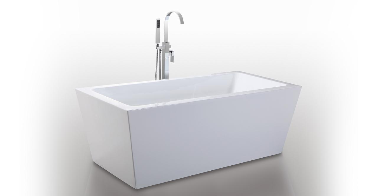 HelixBath Centaur Freestanding Acrylic Modern Bath Tub 67...