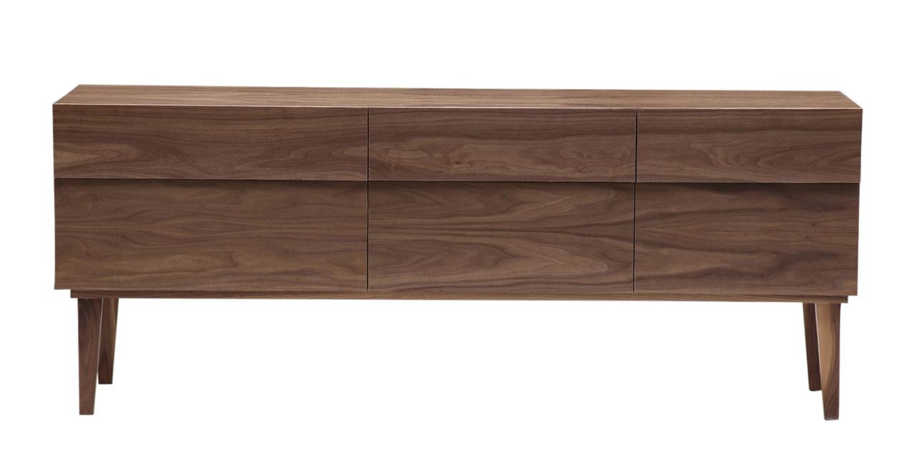 reflection sideboard mid century modern credenza walnut. Black Bedroom Furniture Sets. Home Design Ideas