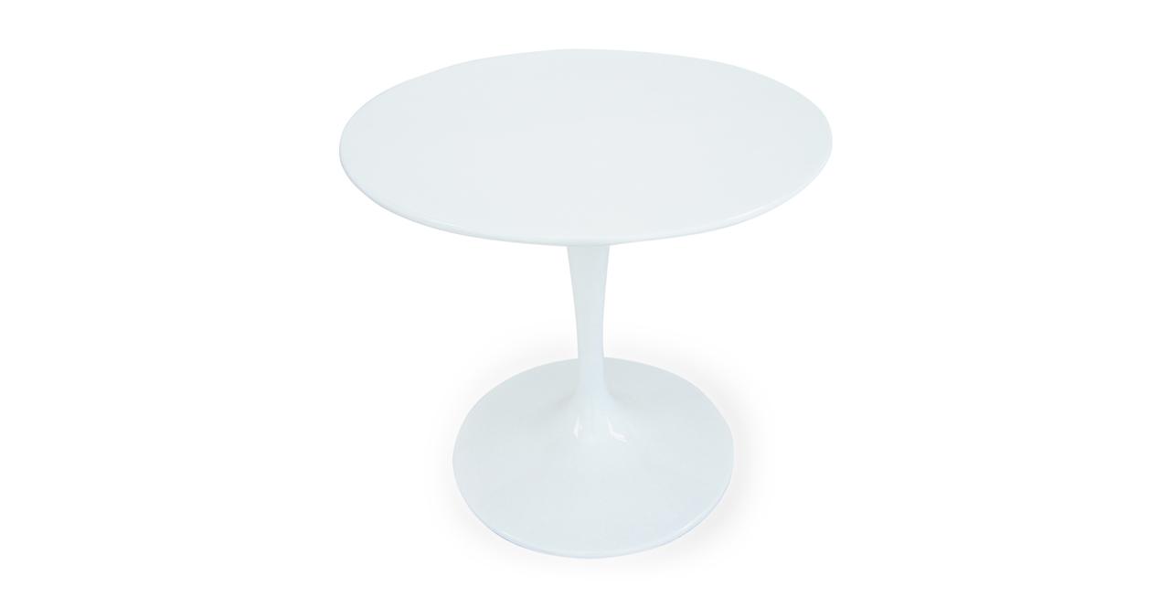 """Kardiel Tulip Style Round Table White Fiberglass, 32"""" Dia..."""