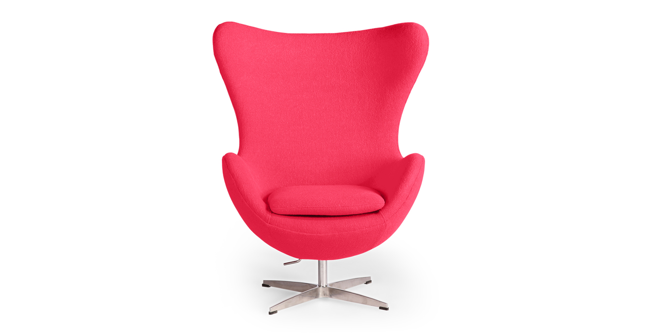 Kardiel Egg Chair, Pink Boucle Cashmere Wool