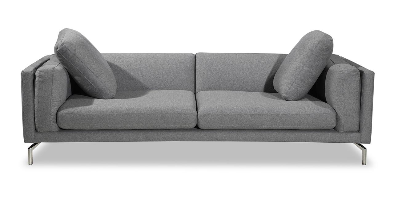 Kardiel Basil Modern Loft Sofa, Cadet Grey Cashmere/Stain...
