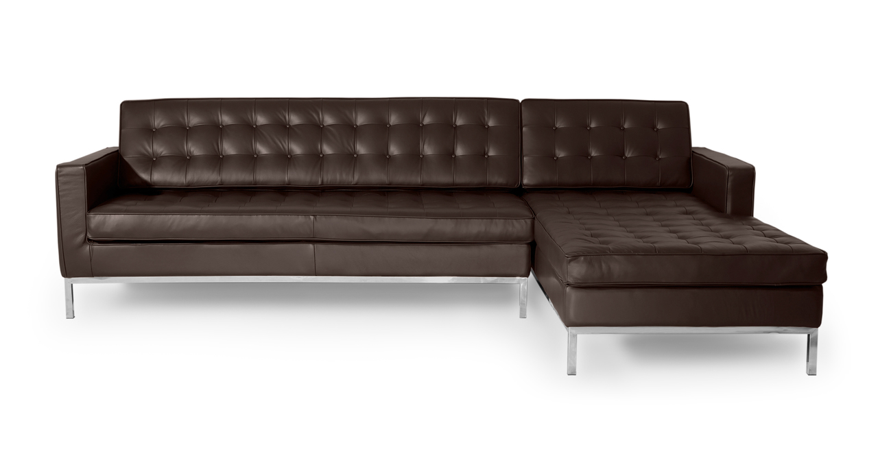 Kardiel Florence Knoll Style Sofa Sectional Right, Choco ...