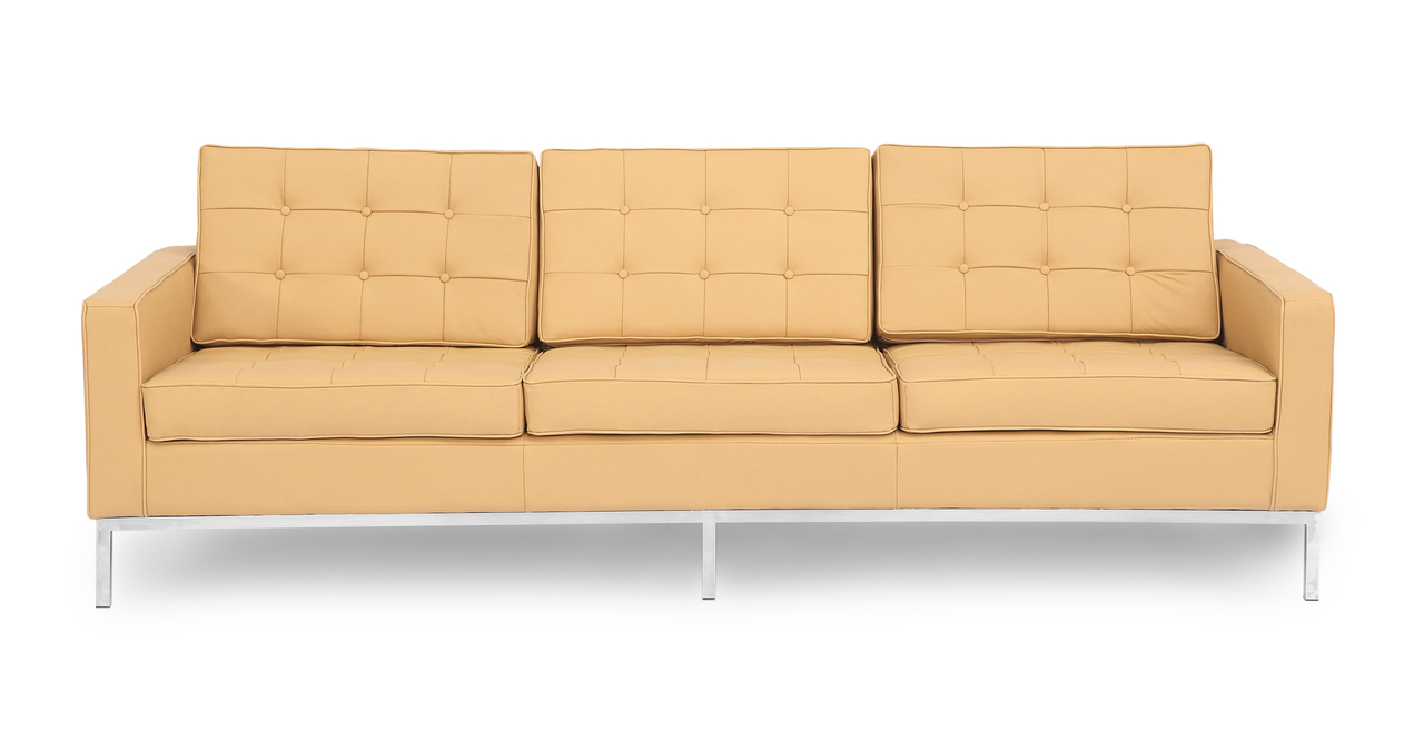 Kardiel Florence Knoll Style Sofa 3 Seat, Oxford Fawn Gen...