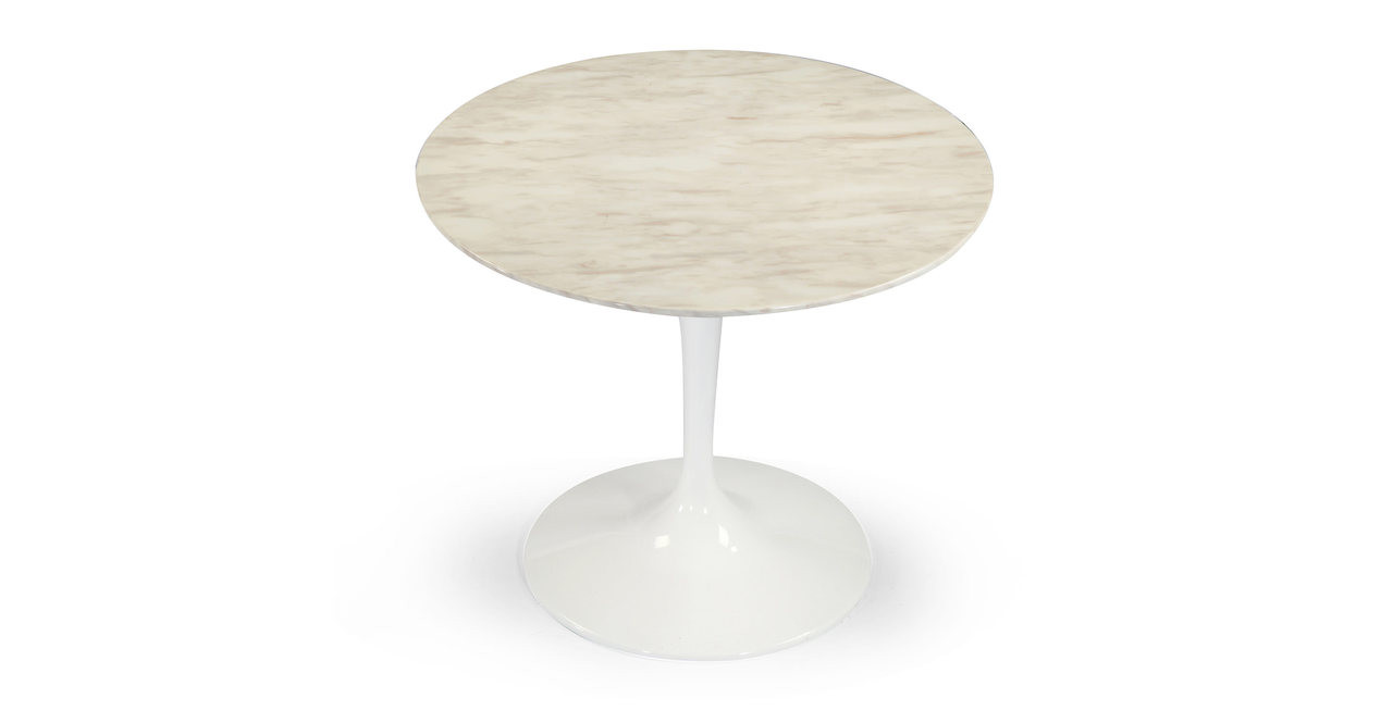 Tulip Table White Marble Round Kardiel - Tulip table sizes