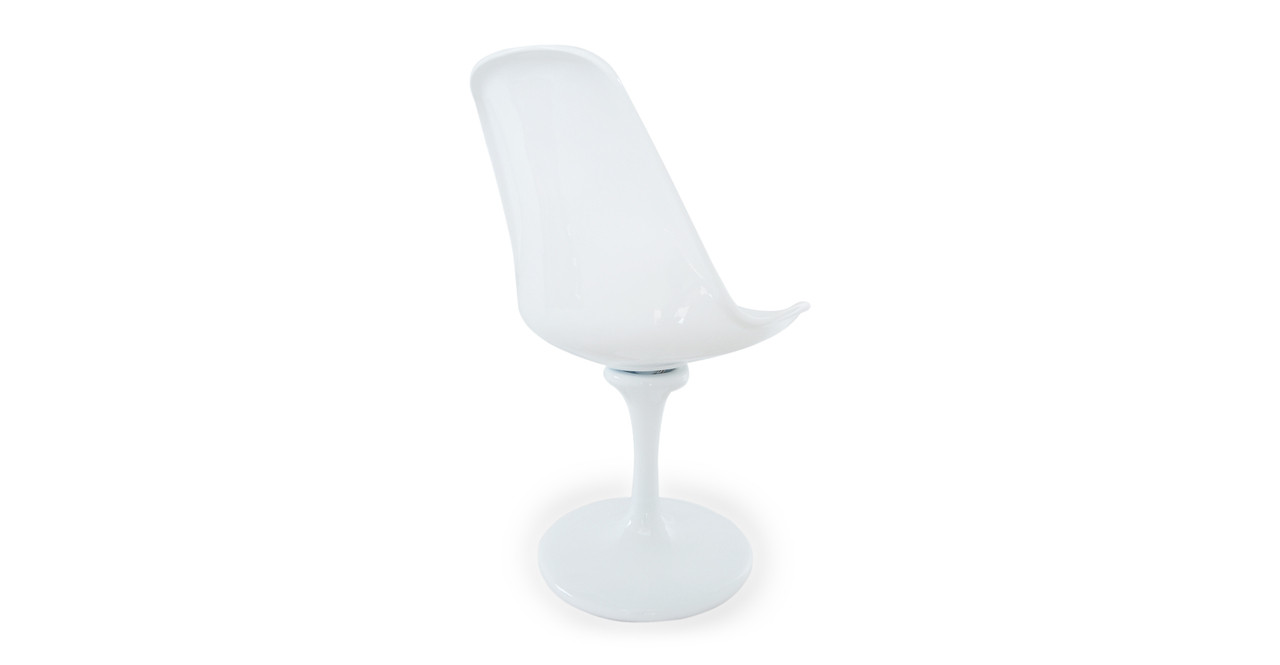 tulip side chair white wool kardiel