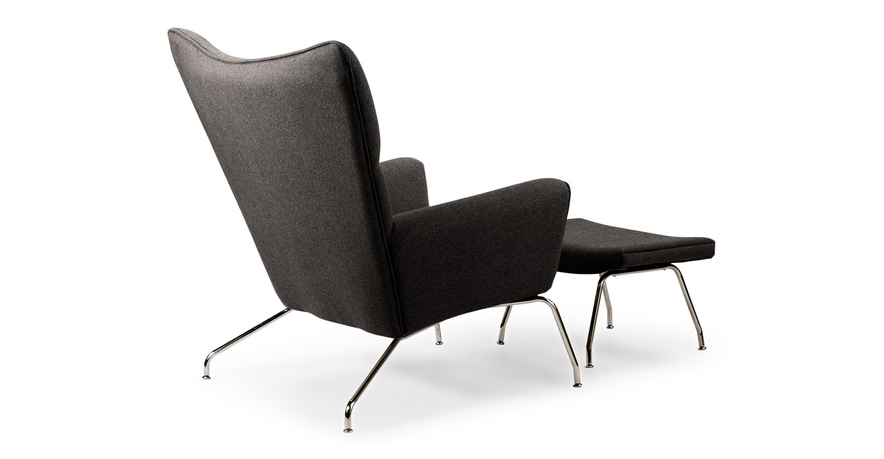 Danish modern wingback chair - It Began When Hans J Wegner Sketched An Upholstered Wing Chair Literally On A Drawing Board Using Pencil And Paper The Chair Design Had Modern Clean Lines