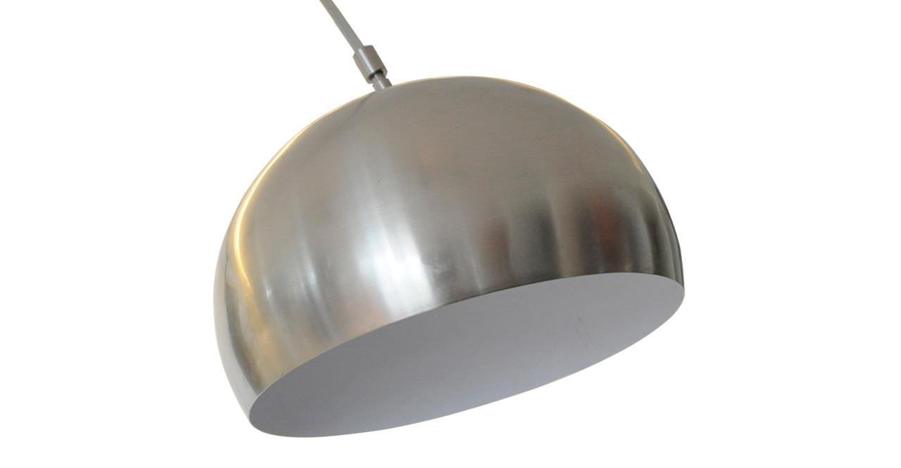 Arco Floor Lamp, White Marble Round - Kardiel