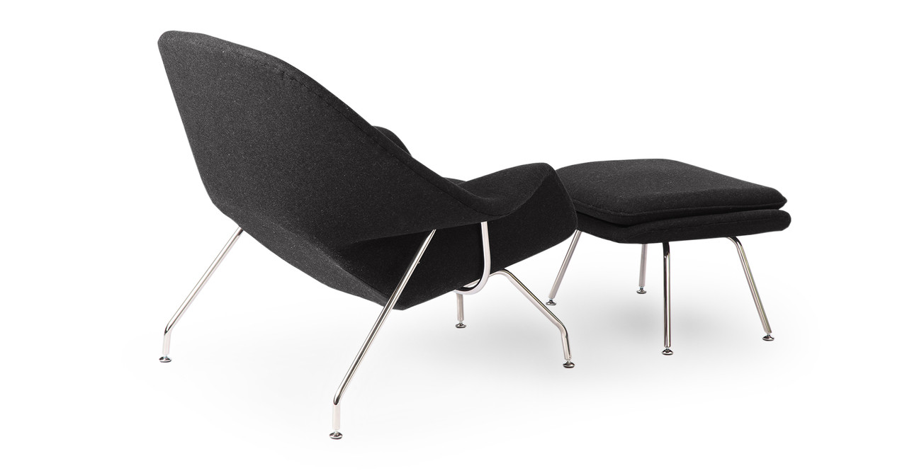 Design Womb Chair womb chair ottoman charcoal kardiel eero saarinen designed with the human body form in mind a simple concept yes but many designers prefer aesthetics to functionality nearly every case
