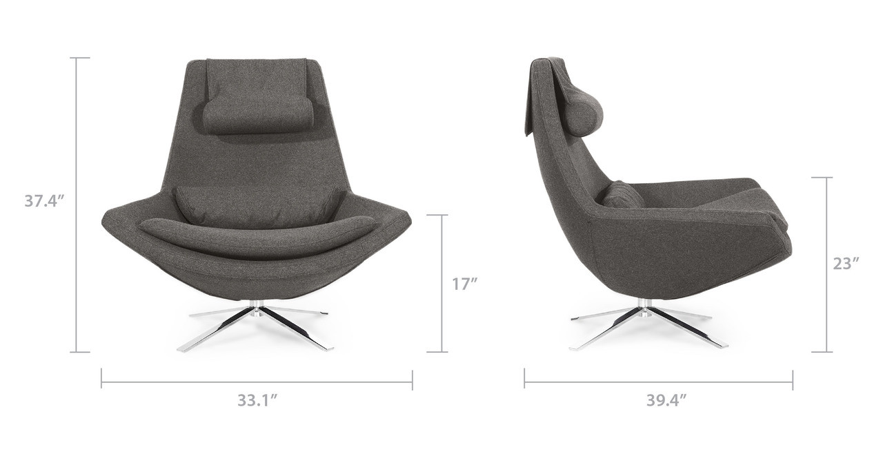 Metropolitan Mid Century Modern Chair & Ottoman