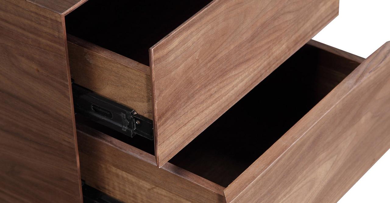 Homework Desk Double Cube Walnut - Kardiel