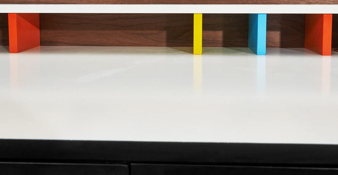 Swag Leg Desk, Walnut - Kardiel