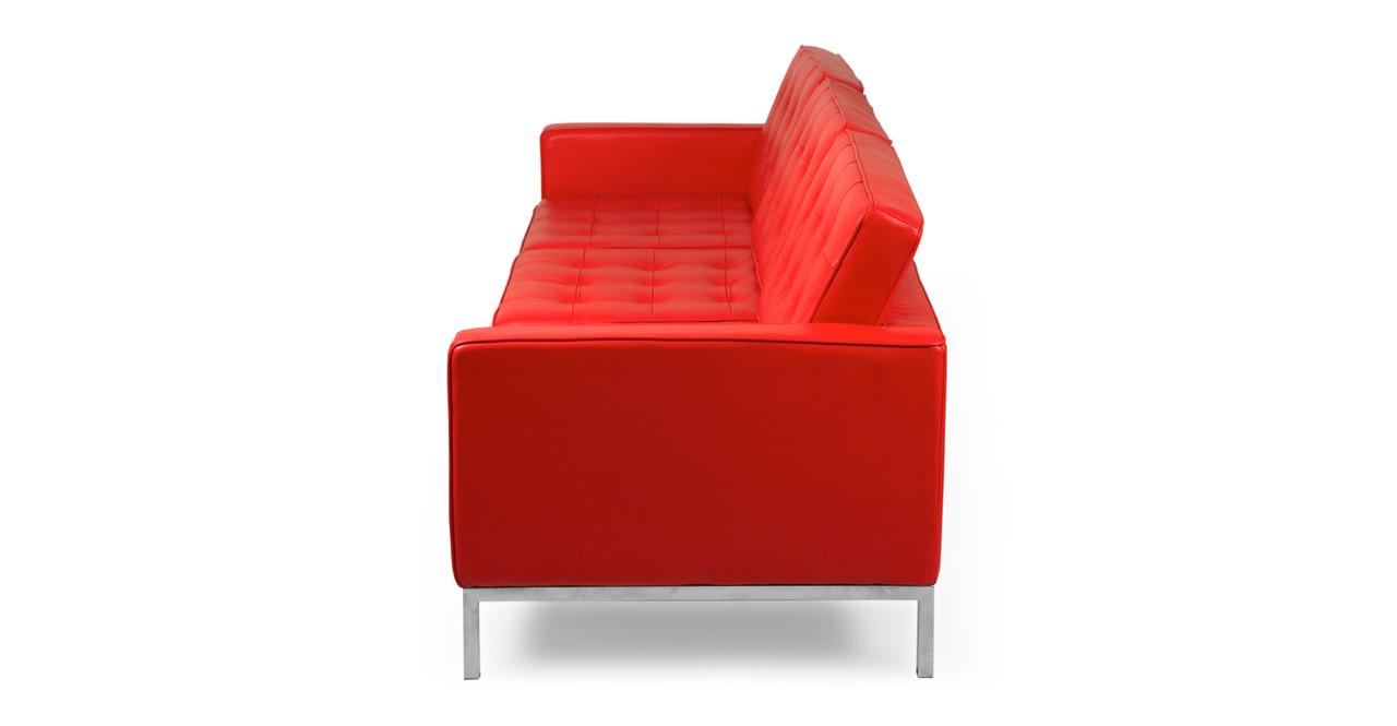 Florence Sofa Red Premium Leather Kardiel - Knoll sofa