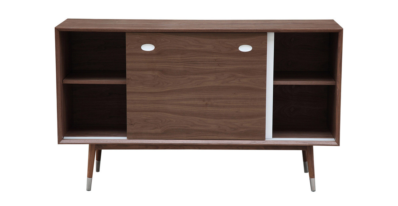 While Concealing The Contents Of The Credenza, Elroyu0027s Doors Represent  Emerging Technology On One Side And Natural Elements On The Other.